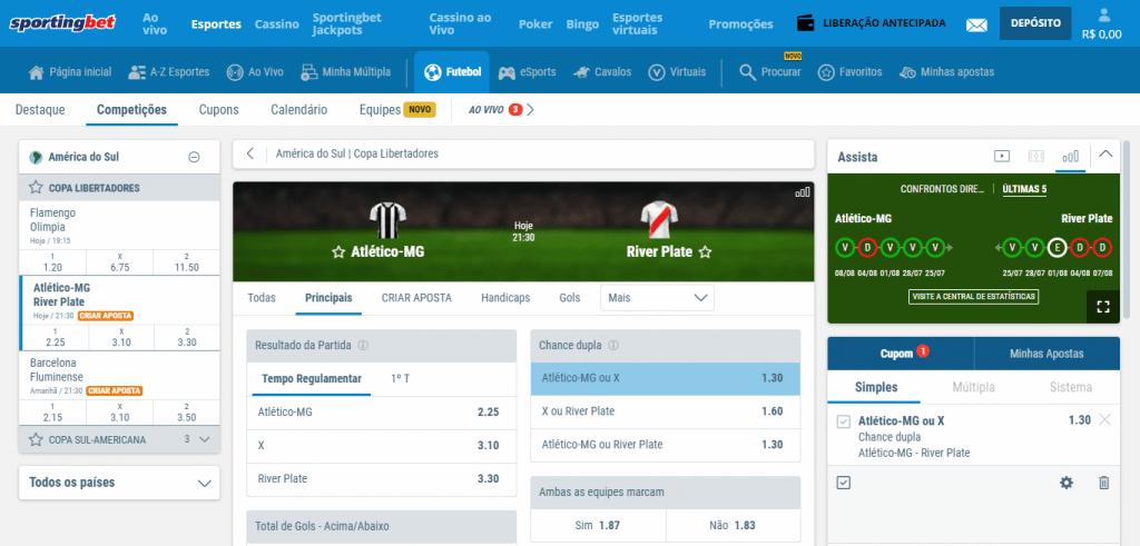 site de apostas de futebol gratis