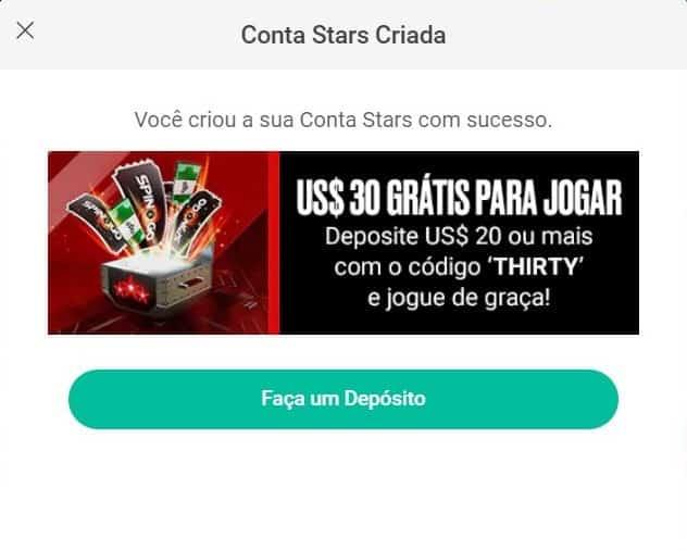 Codigo Bonus PokerStars formulário de cadastro 3