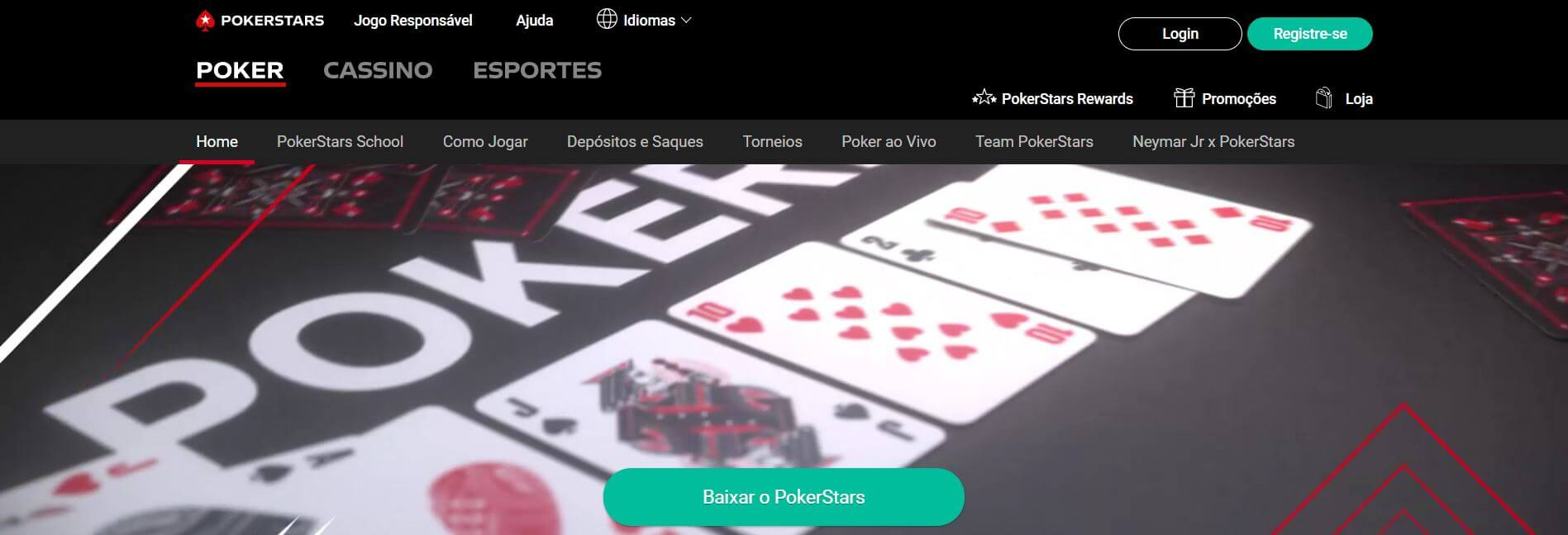Codigo Bonus PokerStars homepage